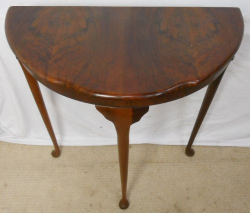 Small Burr Walnut Console Table